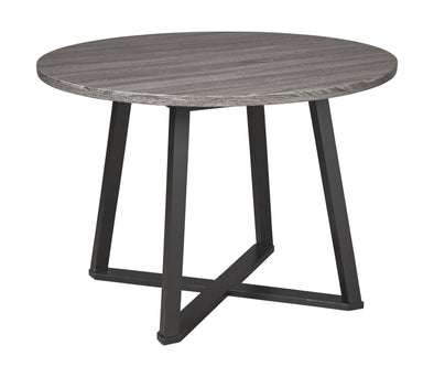 Centiar - Gray/Black - Round Dining Room Table