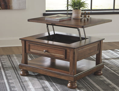Flynnter - Medium Brown - Rect Lift Top Cocktail Table