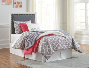 Faelene  UPH Headboard with Metal Bolt on Frame