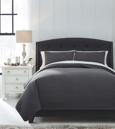 Ryter - Charcoal - King Coverlet Set