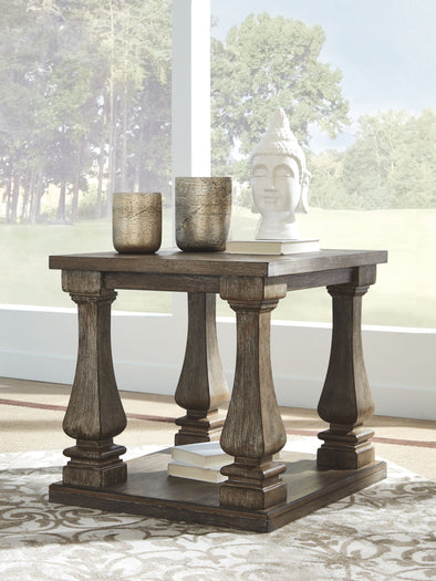 Johnelle - Gray - Rectangular End Table