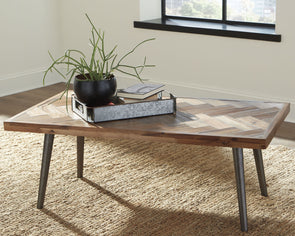 Vantori - Light Brown - Rectangular Cocktail Table
