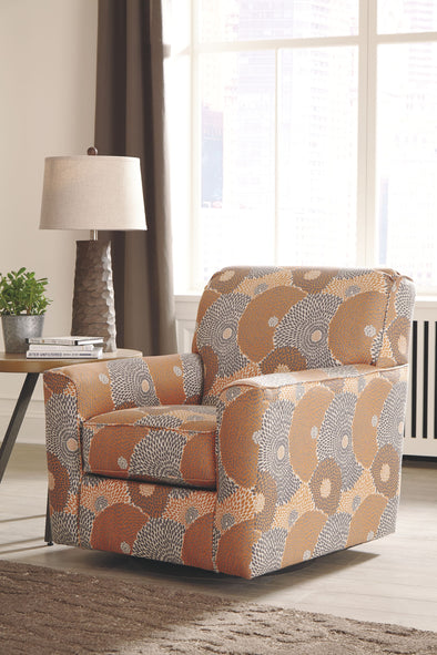 Benissa - Mango - Swivel Accent Chair