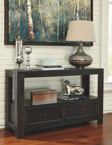 Gavelston - Rubbed Black - Sofa Table