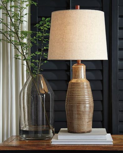 Calixto - Taupe - Terracotta Table Lamp (1/CN)