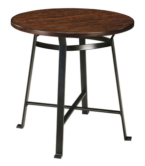 Challiman - Rustic Brown - Round Dining Room Bar Table