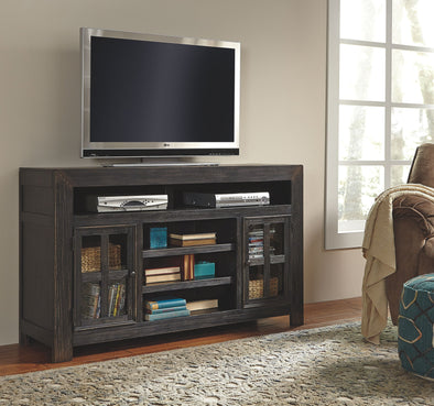 Gavelston - Black - LG TV Stand w/Fireplace Option