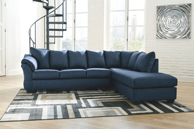 Darcy - Blue - LAF Sofa & RAF Corner Chaise Sectional
