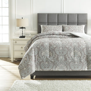 Noel - Gray/Tan - Queen Comforter Set