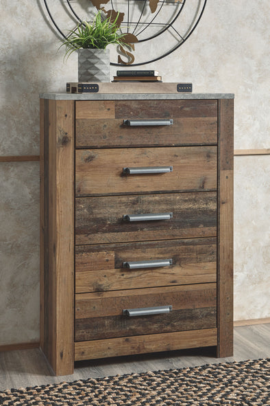 Chadbrook - Brown - Five Drawer Chest