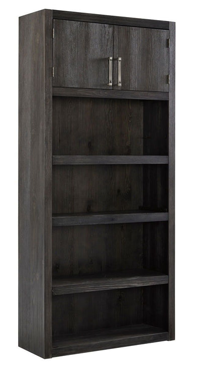 Raventown - Grayish Brown - Large Bookcase
