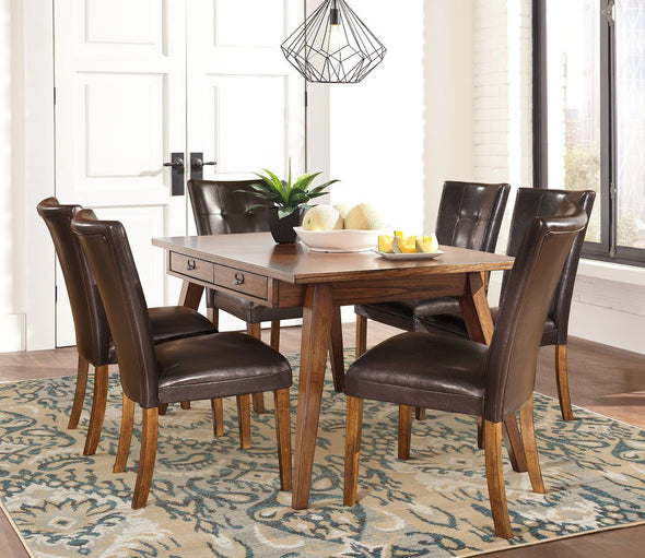 Centiar - Two-tone Brown - 7 Pc. - RECT DRM Table & 6 Lacey UPH Side Chairs