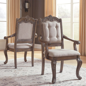 Charmond - Brown - Dining UPH Arm Chair