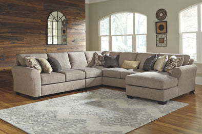 Pantomine - Driftwood - LAF Loveseat, Armless Chair, Wedge, Armless Loveseat & RAF Corner Chaise Sectional