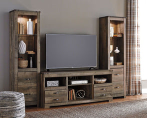 Trinell - Entertainment Center - LG TV Stand & 2 Tall Piers