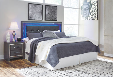 Lodanna - Gray -  UPH Panel HDBD with Bolt on Bed Frame