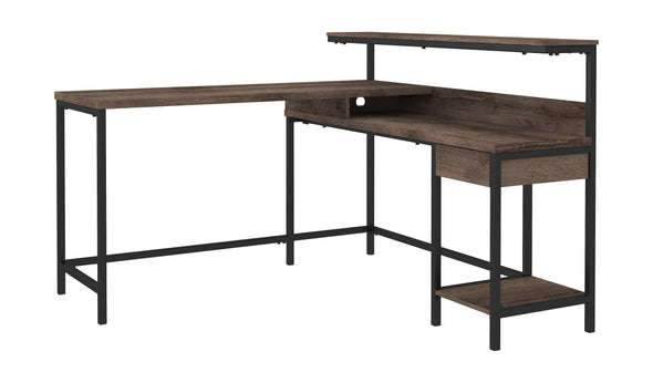 Arlenbry - Gray - L-Desk with Storage