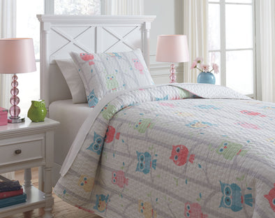 Lucille - Multi -  Coverlet Set