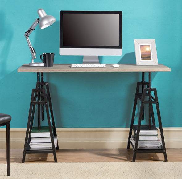 Irene - Gray - Adjustable Height Desk