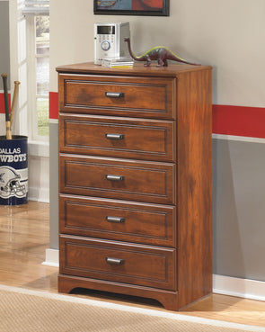 Barchan - Medium Brown - Five Drawer Chest