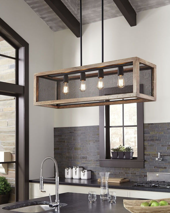 Jodene - Brown/Black - Wood Pendant Light (1/CN)