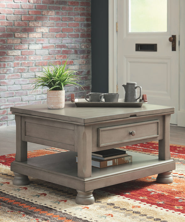 Lettner - Gray - Rect Lift Top Cocktail Table