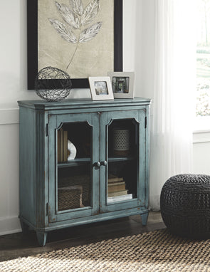 Mirimyn - Antique Teal - Accent Cabinet