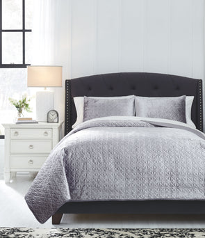 Maryam - Gray - King Coverlet Set