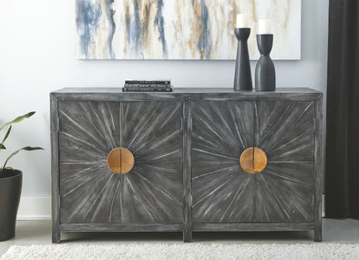 Kademore - Antique Black - Accent Cabinet