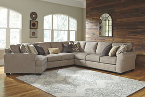 Pantomine - Driftwood - LAF Cuddler, Armless Loveseat, Wedge, Armless Chair & RAF Loveseat Sectional