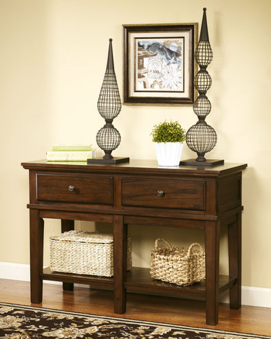 Gately - Medium Brown - Console Sofa Table