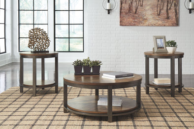 Roybeck - Light Brown/Bronze - Occasional Table Set (3/CN)