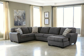 Sorenton - Slate - LAF Sofa, Armless Loveseat & RAF Corner Chaise Sectional