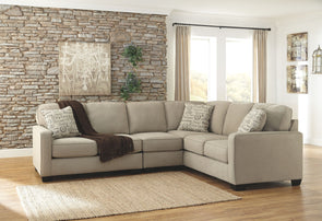 Alenya - Quartz - LAF Loveseat, Armless Chair & RAF Sofa Sectional