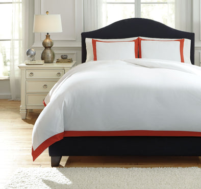 Ransik Pike - Coral - Queen Duvet Cover Set