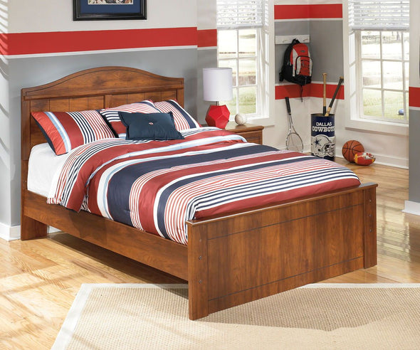 Barchan - Medium Brown -  Panel Bed
