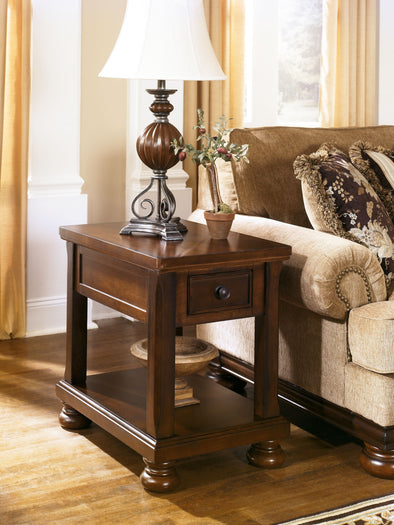 Porter - Rustic Brown - Chair Side End Table