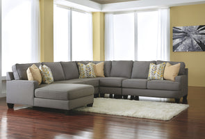 Chamberly - Alloy - LAF Corner Chaise, Armless Loveseat, Wedge, Armless Chair & RAF Loveseat Sectional