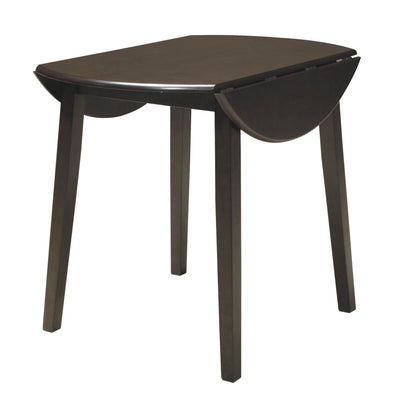 Hammis - Dark Brown - Round DRM Drop Leaf Table