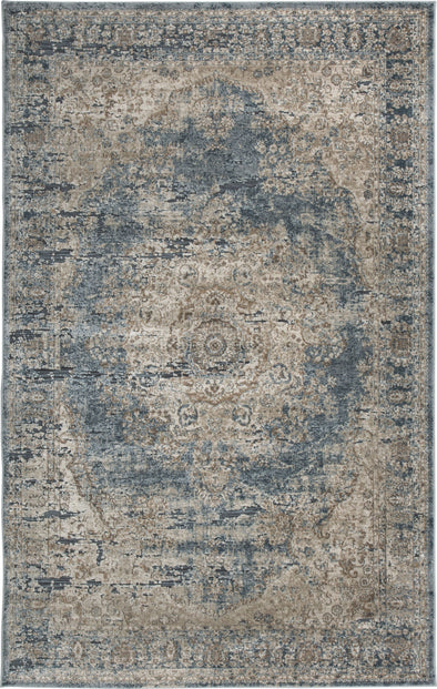 South - Blue/Tan - Large Rug