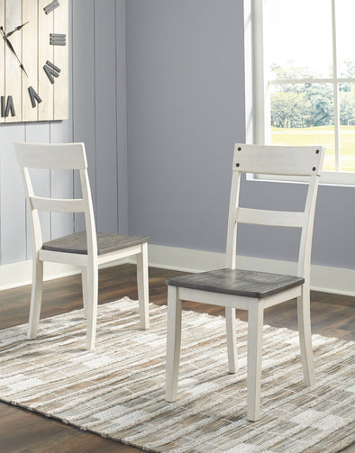 Nelling - Two-tone - Dining Room Side Chair (2/CN)