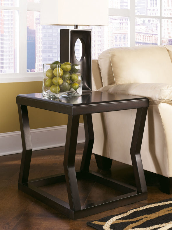 Kelton - Espresso - Rectangular End Table