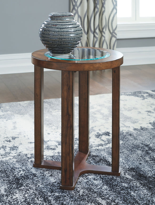 Hannery - Brown - Round End Table