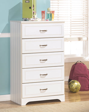 Lulu - White - Five Drawer Chest