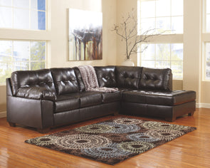 Alliston - Chocolate - LAF Sofa & RAF Corner Chaise Sectional