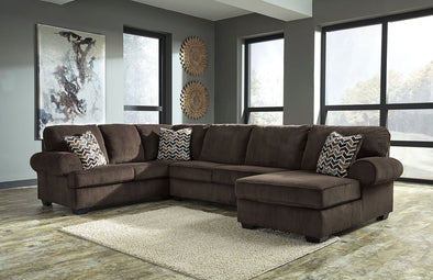 Jinllingsly - Chocolate - LAF Sofa, Armless Loveseat & RAF Corner Chaise Sectional