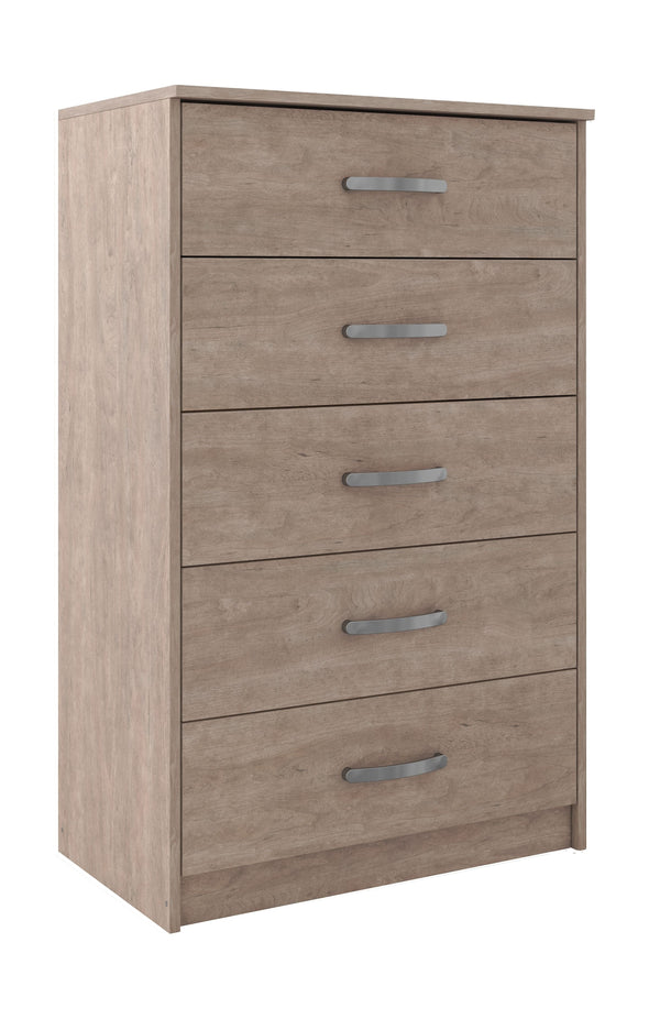Flannia - Gray - Five Drawer Chest