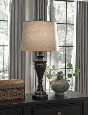 Darlita - Bronze Finish - Metal Table Lamp (2/CN)