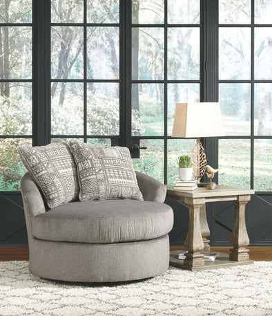 Soletren - Ash - Swivel Accent Chair