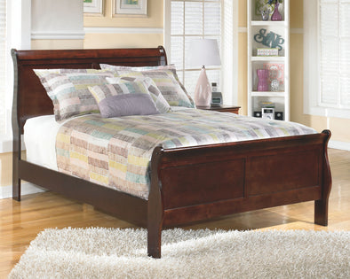 Alisdair - Dark Brown -  Full Sleigh Bed